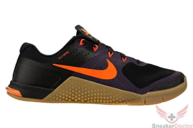 Nike Metcon 2 AMP Men's Cross Training Shoes, BLACK/TOTAL ORANGE-PURPLE  DYNASTY