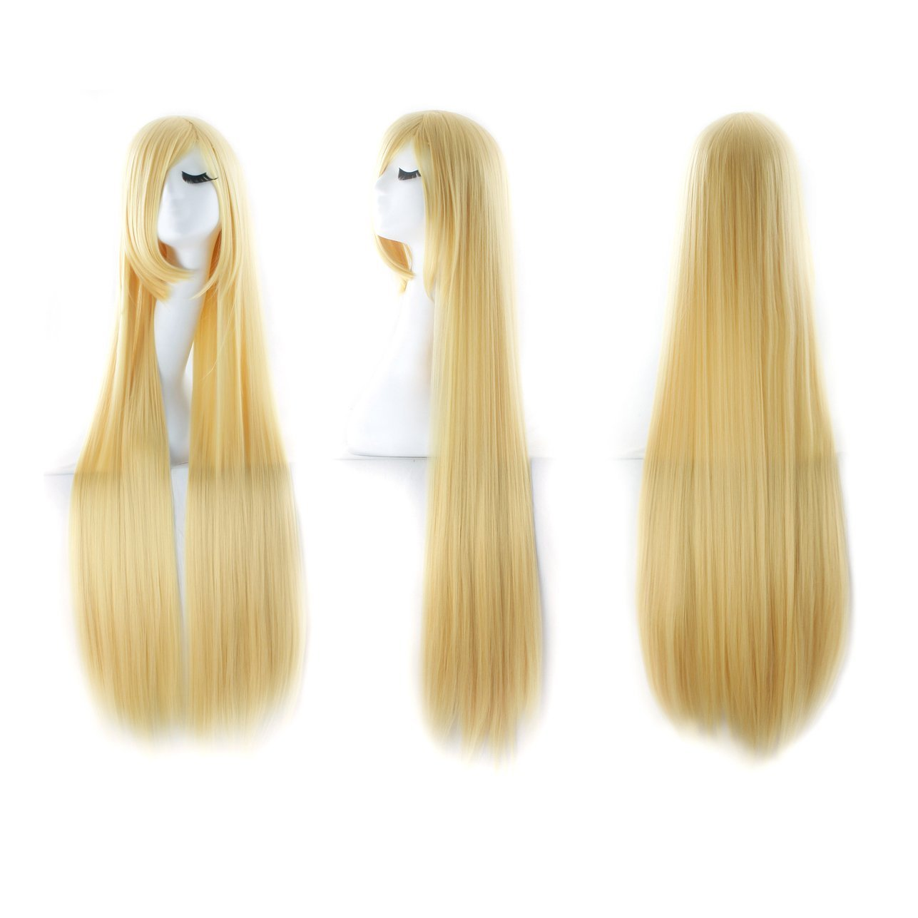 Black MapofBeauty 40 100cm Anime Costume Long Straight Cosplay Wig Party Wig