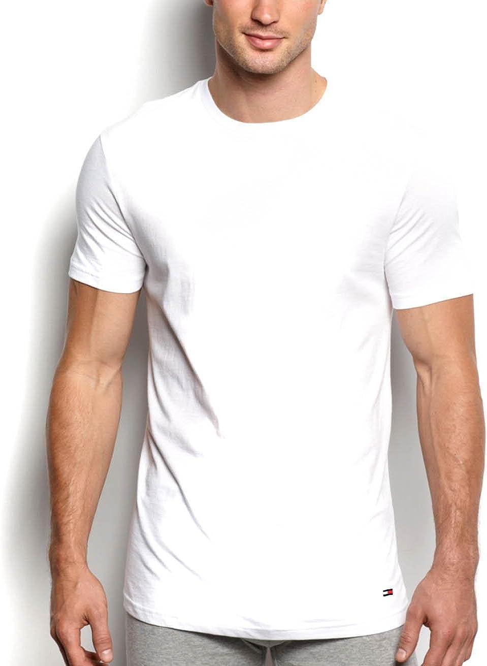 Tommy Hilfiger Men's Undershirts Cotton Classics Crew Neck T-Shirts