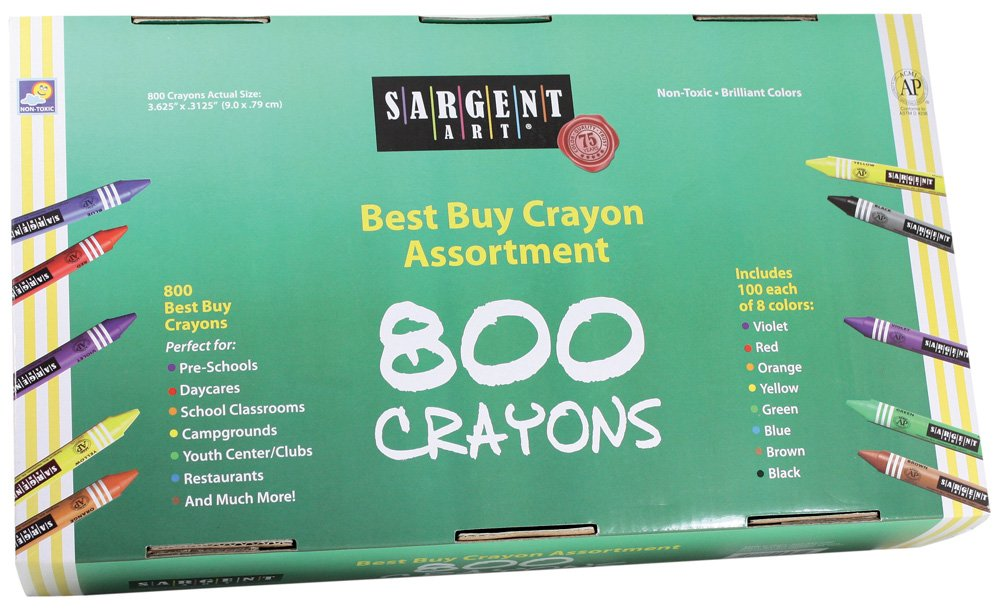 Sargent Art 55-3280 800 Count Regular Besy Buy Crayon, Assorted