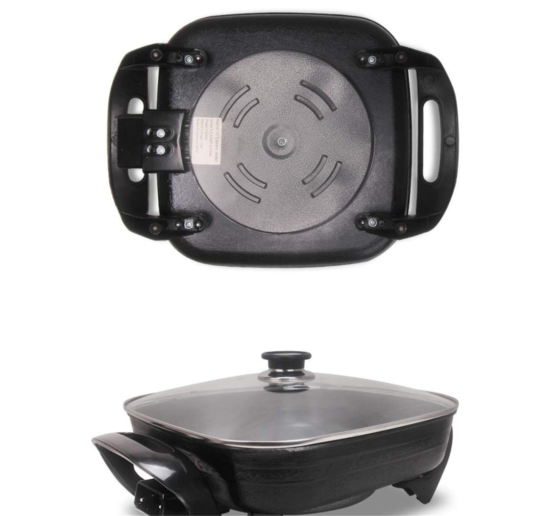 ZZBBQ 110V Multi-Function Electric Cooker Electric Skillet Thickening Household Electric Wok Hot Pot Smokeless Non-Stick Electric Pan Indoor by ZZBBQ (Image #7)