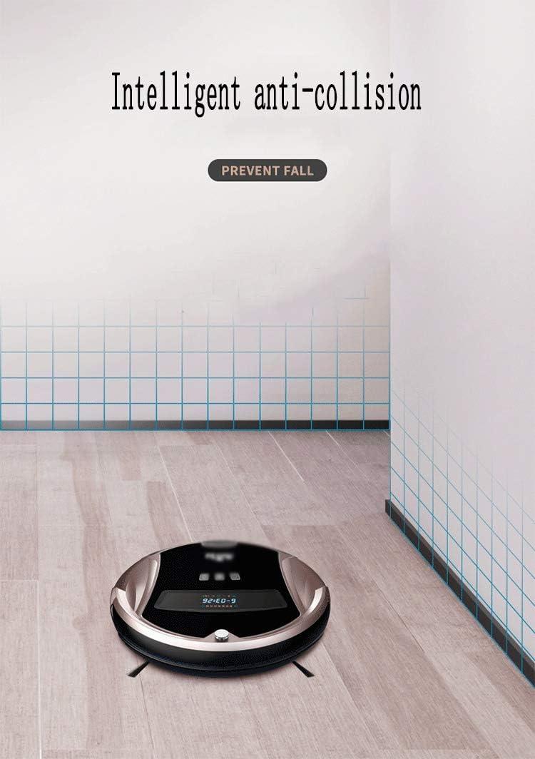 1200Pa Robot Aspirateur, Anti-chute Intelligent Sensor, avec une forte aspiration, for les animaux cheveux, moquette, sol dur (Color : Gold) Gold