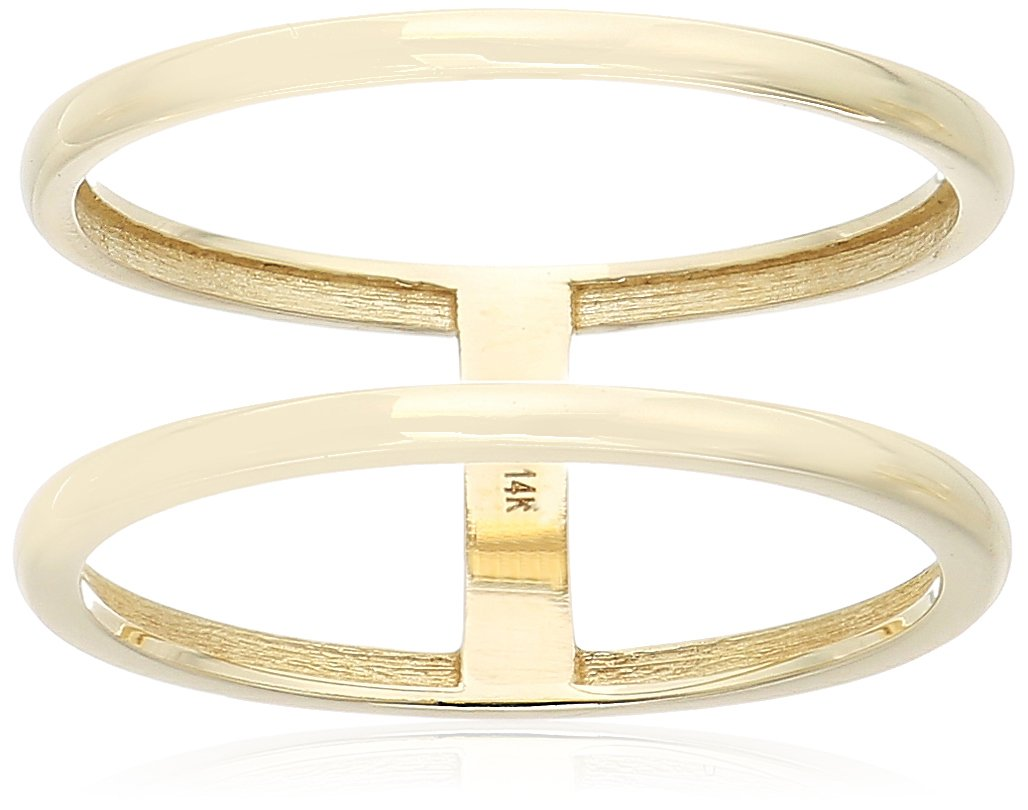 14k Yellow Gold Double Ring, Size 8