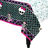 """Freaky Fab Monster High Birthday Party Table Cover Tableware Decoration (1 Piece), Multi Color, 54"""" x 96""""."""