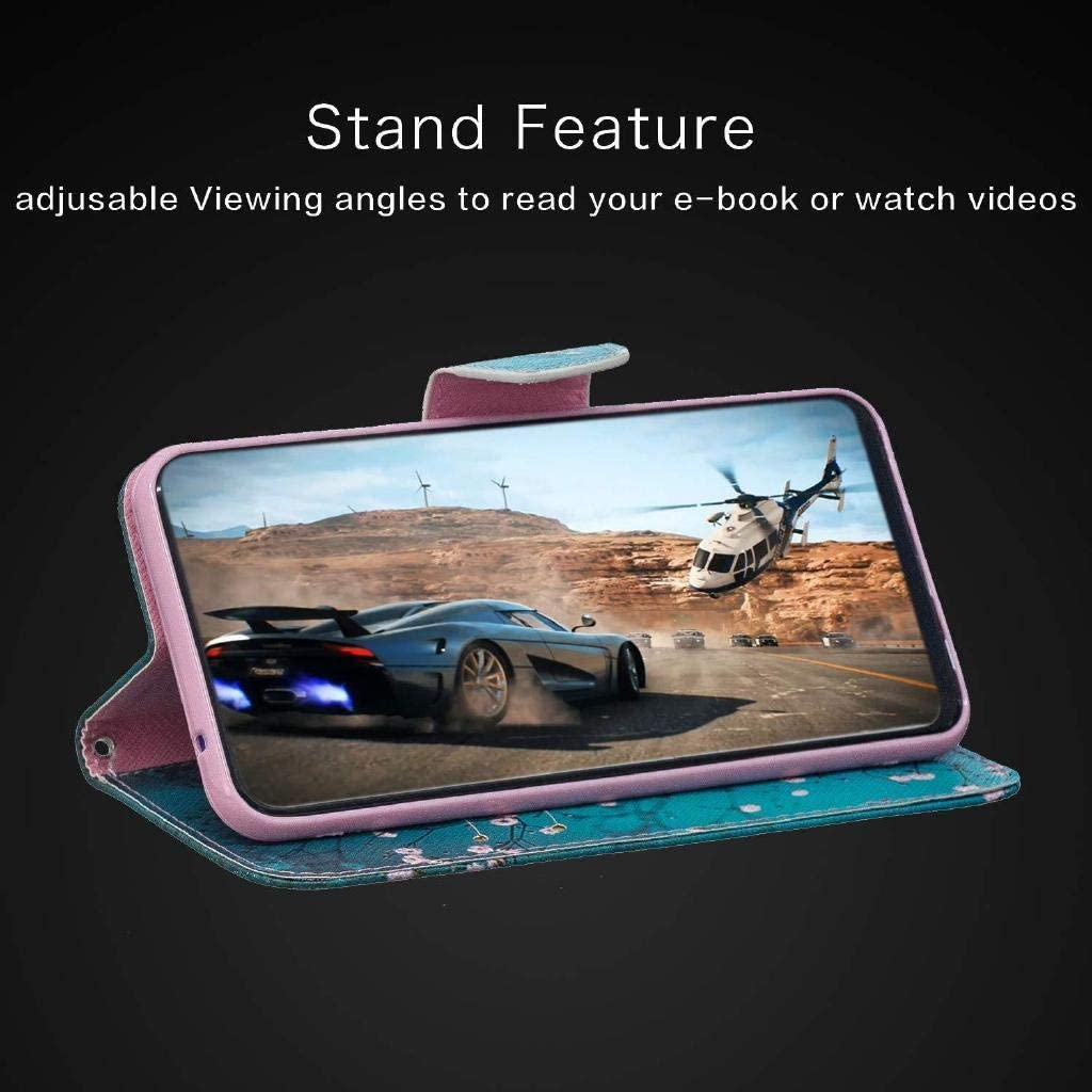 Veapero Nokia 1 Plus 2019 Case,Shockproof PU Leather Flip Cover Notebook Wallet Case with Magnetic Closure Stand Card Holder ID Slot Folio Soft TPU Bumper Protective Skin,Kapok