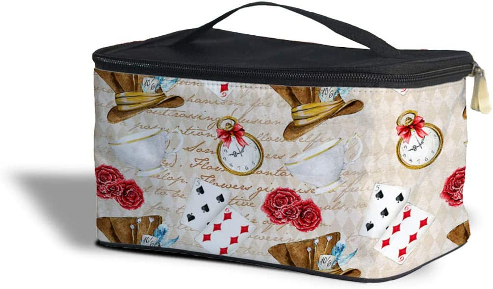 Rainbow Rules Mad Hatter Tea Party Cosmetics Storage Case - One Size Cosmetics Storage Case - Makeup Zipped Travel Bag