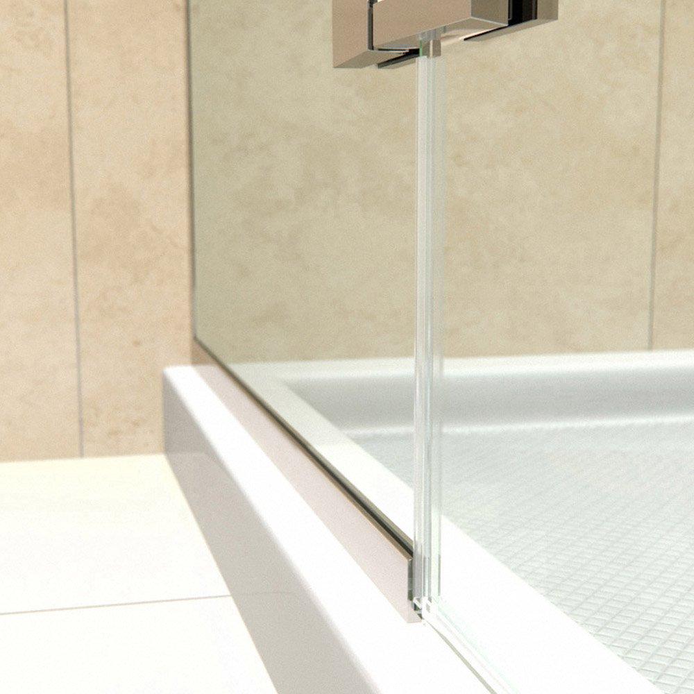 DreamLine Aqua Ultra 45 in. W x 72 in. H Frameless Hinged Shower Door in Brushed Nickel, SHDR-3445720-04 by DreamLine (Image #6)