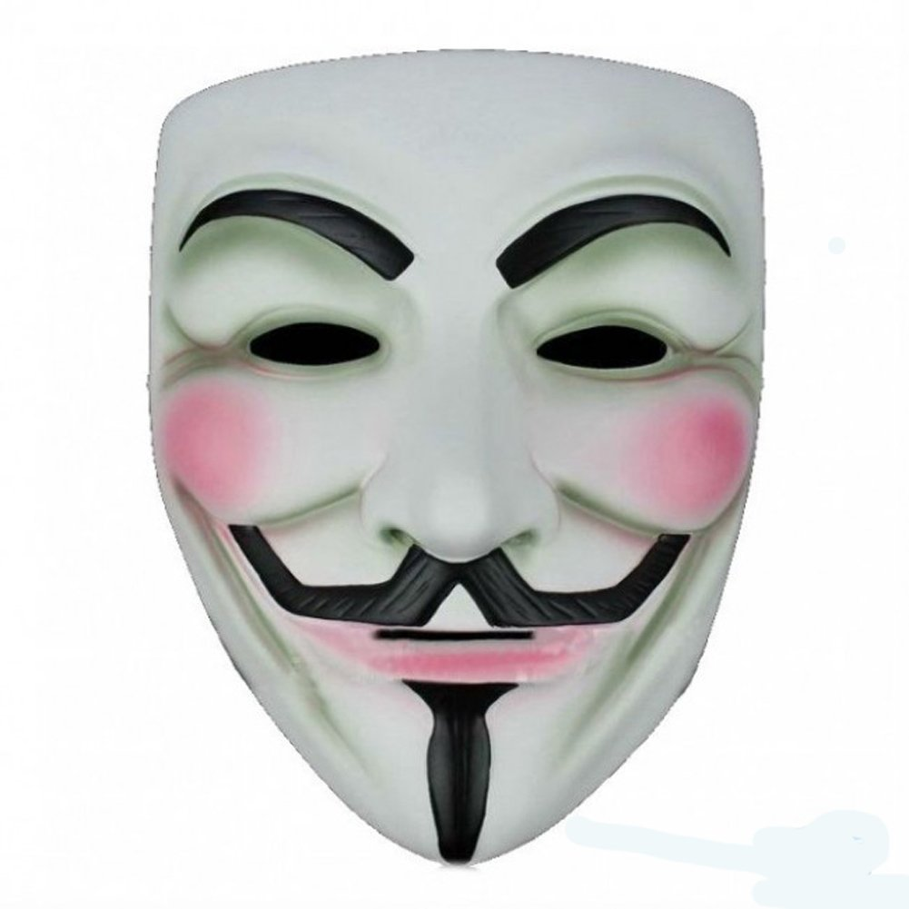 Costume mask v for vendetta anonymous amazon co uk toys games
