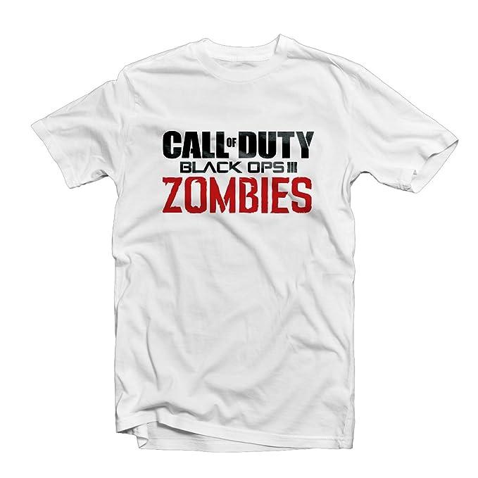 Camiseta Call Of Duty Black Ops 3 Zombies Blanco blanco Small: Amazon.es: Ropa y accesorios