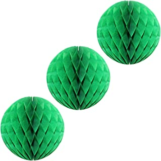 product image for 3-Pack Large 14 Inch Honeycomb Tissue Paper Party Ball Decoration (Light Green)