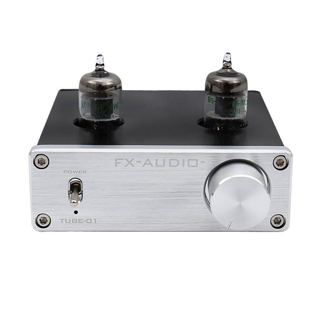 FX Audio TUBE-01 JAN 5654W Tube Buffer HIFI Preamplifier (TUBE-01S-SL) by FX Audio