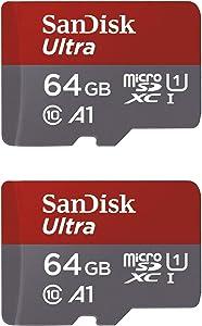 SanDisk 64GB X2 (128GB) MicroSDXC Ultra Uhs-1 Memory Card
