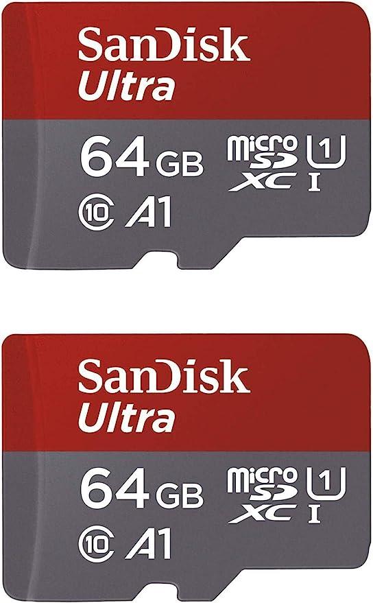 Amazon.com: SanDisk 64GB X2 (128GB) MicroSDXC Ultra Uhs-1 Memory Card: Computers & Accessories