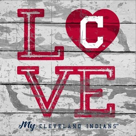Banner Cleveland Indians (Prints Charming Cleveland Indians Love My Team - Square)