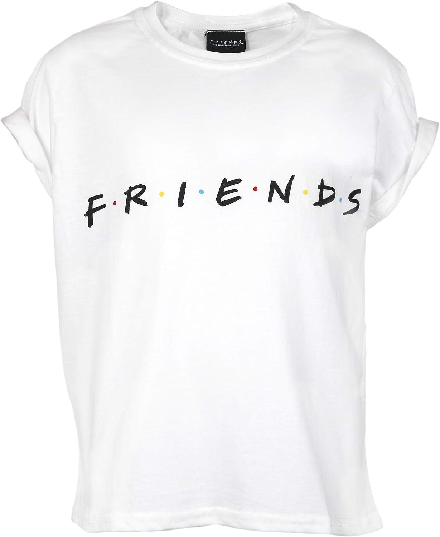 Official Merchandise Friends Text Logo Girls Cropped T-Shirt