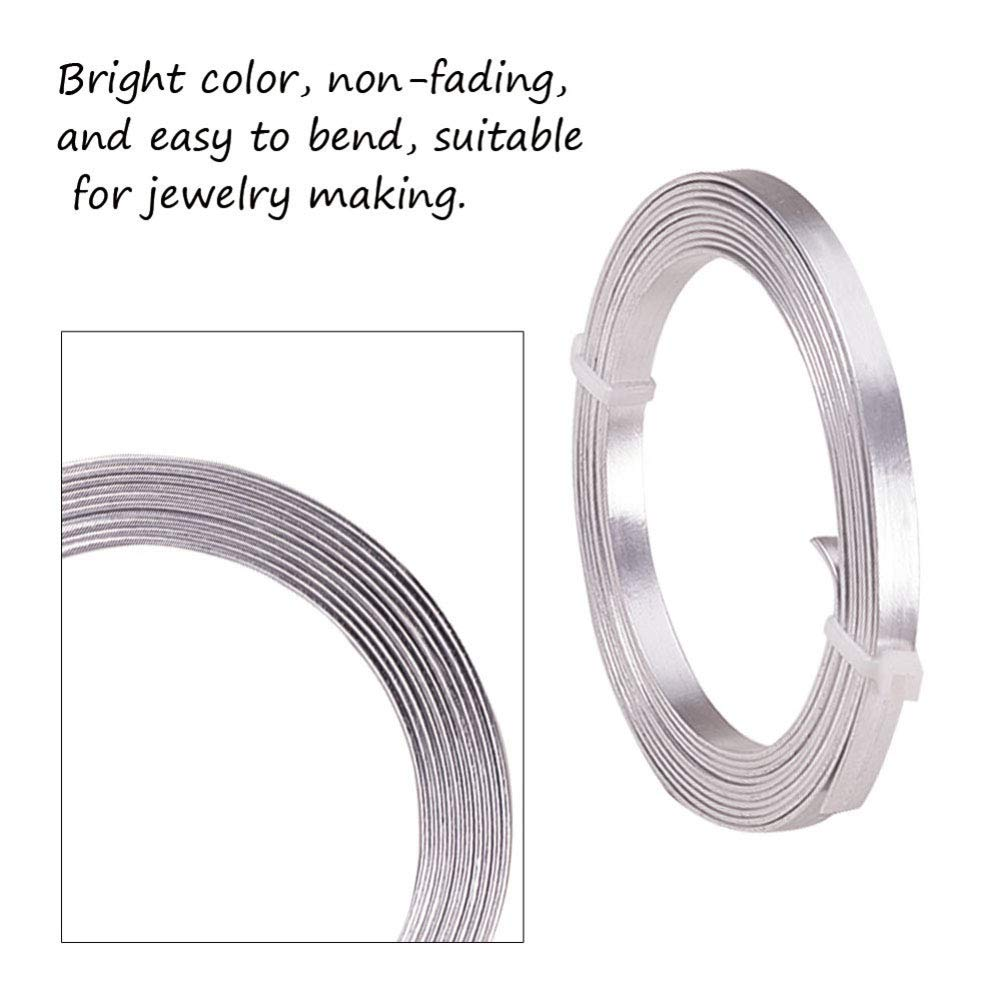 Pandahall 32.8 Feet Aluminum Wire Flexible 1.5mm//15gauge Metal Artistic Beading Wire for Floral Jewelry Making Silver