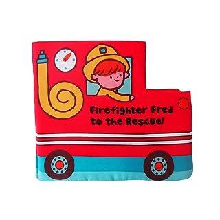 Toyvian Giocattolo 3D del Libro del Panno del Camion di Lotta antincendio Giocattolo educativo in anticipo Creativo per Il Neonato Infantile