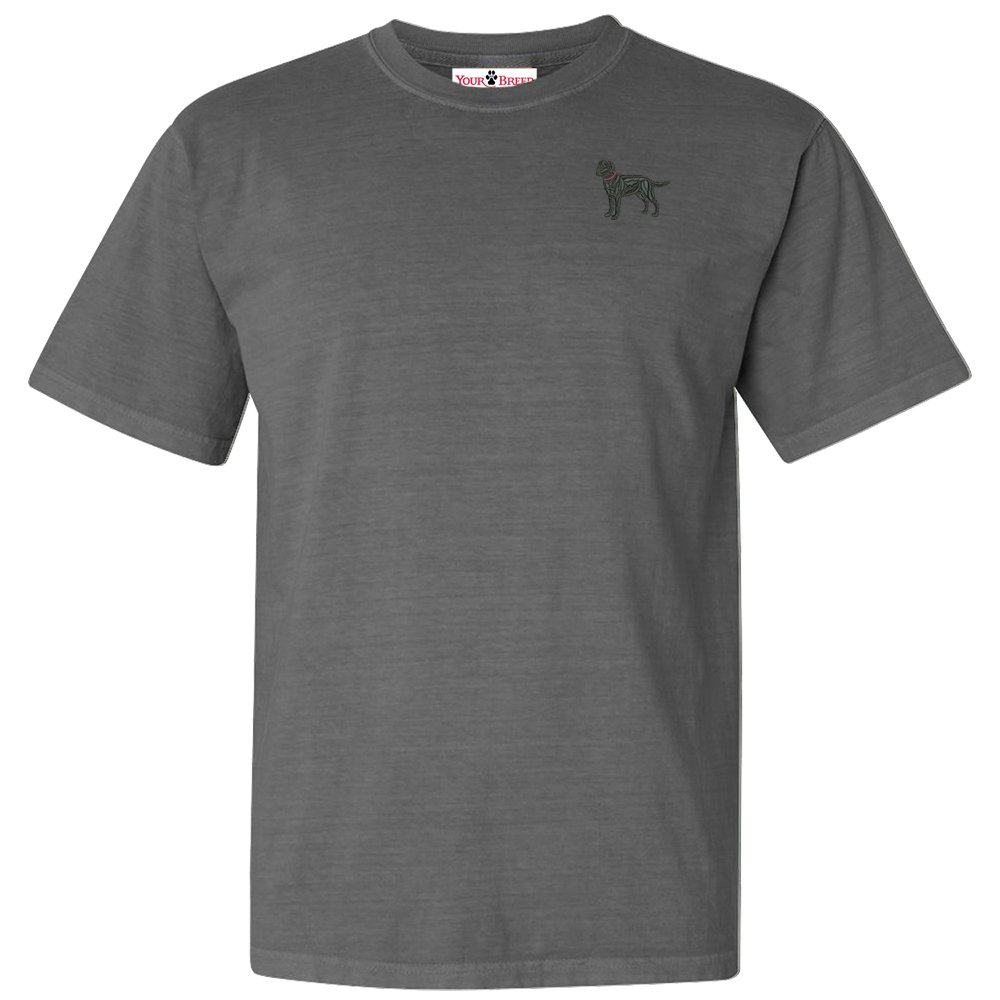 Greater Swiss Mountain Dog Mens Embroidered Relaxed Fit Tee Shirt