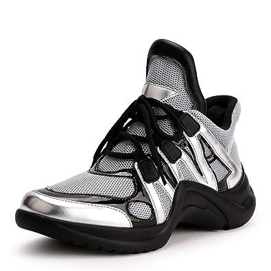 Sneakers da Donna Scarpe Basse Scarpe da Donna in Pelle di