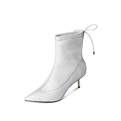 YZ-Shoe Zapatos de tacón de Aguja para Mujer Americana ...