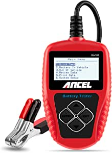 ANCEL BA101 Professional 12V 100-2000 CCA 220AH Automotive Load Battery Tester Digital Analyzer Bad Cell Test Tool for Car/Boat/Motorcycle and More