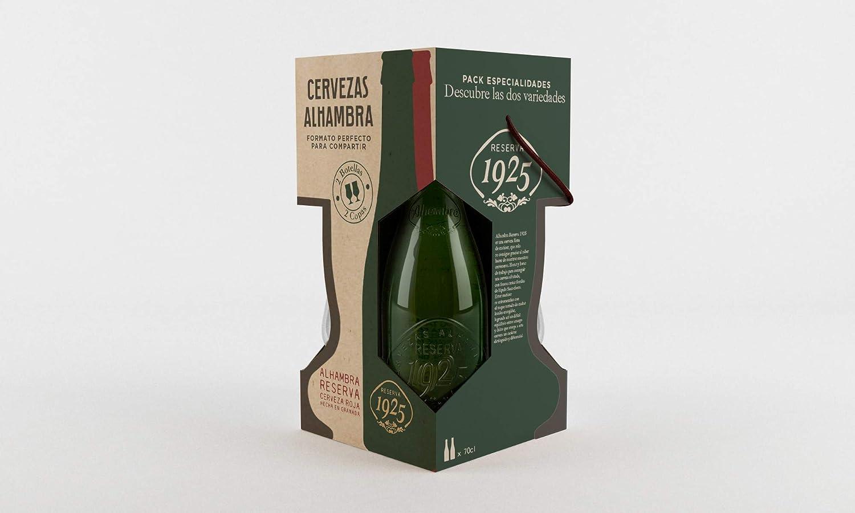 Alhambra Navidad Cervezas - Estuche de 2 x 700 ml con copa - Total: 1400 ml: Amazon.es: Alimentación y bebidas