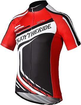 Catena Maillot de Ciclismo Hombre Camiseta Manga Corta Jersey Ropa para Bicicleta Verano MTB Camisa: Amazon.es: Deportes y aire libre