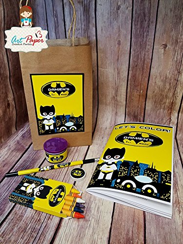 10 Batman Coloring Kit For Party Favors With Book We Make In Any