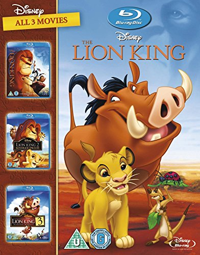 The Lion King 1-3 [Blu-ray] [1994] [Region Free] (The New Lion King Two Part 2)