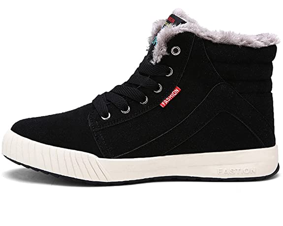 YIRUIYA Men's Winter Fur Lining Ankle Warmer Lace Up Snow Boots Sneaker:  Amazon.ca: Shoes & Handbags
