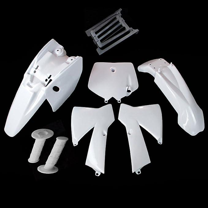 TC-Motor Aftermarket Plastic Fender Fairing Body Kit For 2002-2008 KTM50 KTM 50 SX Junior 50cc//1997-2010 KTM50//2003-2008 50 SX//2003-2008 50 SX Junior//2008 50 SX Mini White