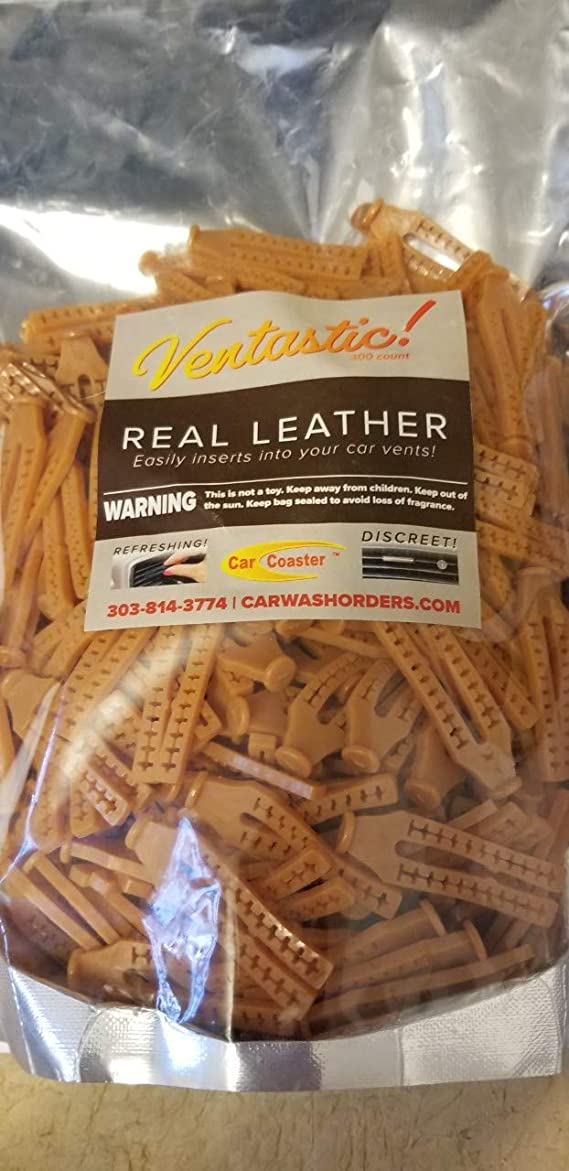 Aroma Disc Air Fresheners Real Leather 25 CT