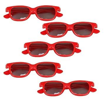 Sharplace 5pcs Gafas 3D Lente Polarizada de Cine Película TV para Niños