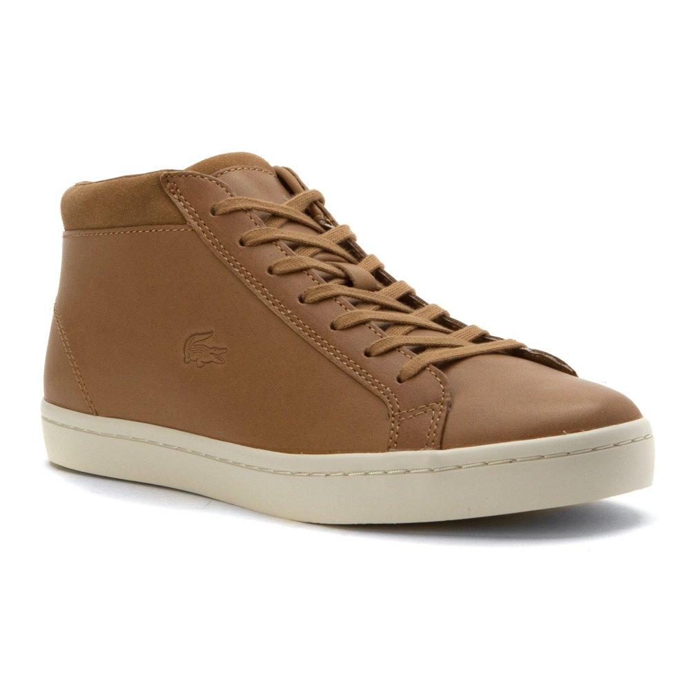 Lacoste Men's Straightset Chukka 316 2 Cam Fashion Sneaker, Tan, 9.5 M US