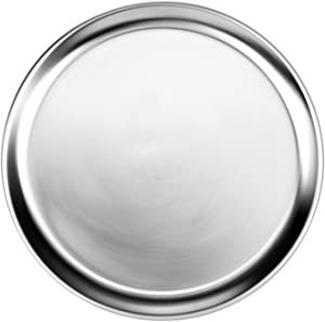 New Star 50783 Aluminum Wide Rim Pizza Tray Pizza Pan, 20-Inch