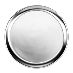 New Star Foodservice 50776 Pizza Pan/Tray, Wide Rim, Aluminum, 18 Inch