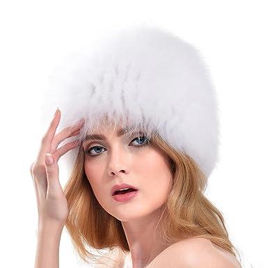 bene vendita scontata quantità limitata VEMOLLA Cappello per Donna in Vera Pelliccia di Volpe Stile ...