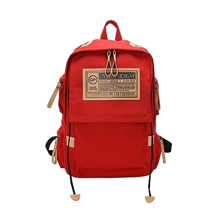 d263ec34787e Amazon.com: Rhfemd Fashion Rucksack Canvas Backpack School Bag ...