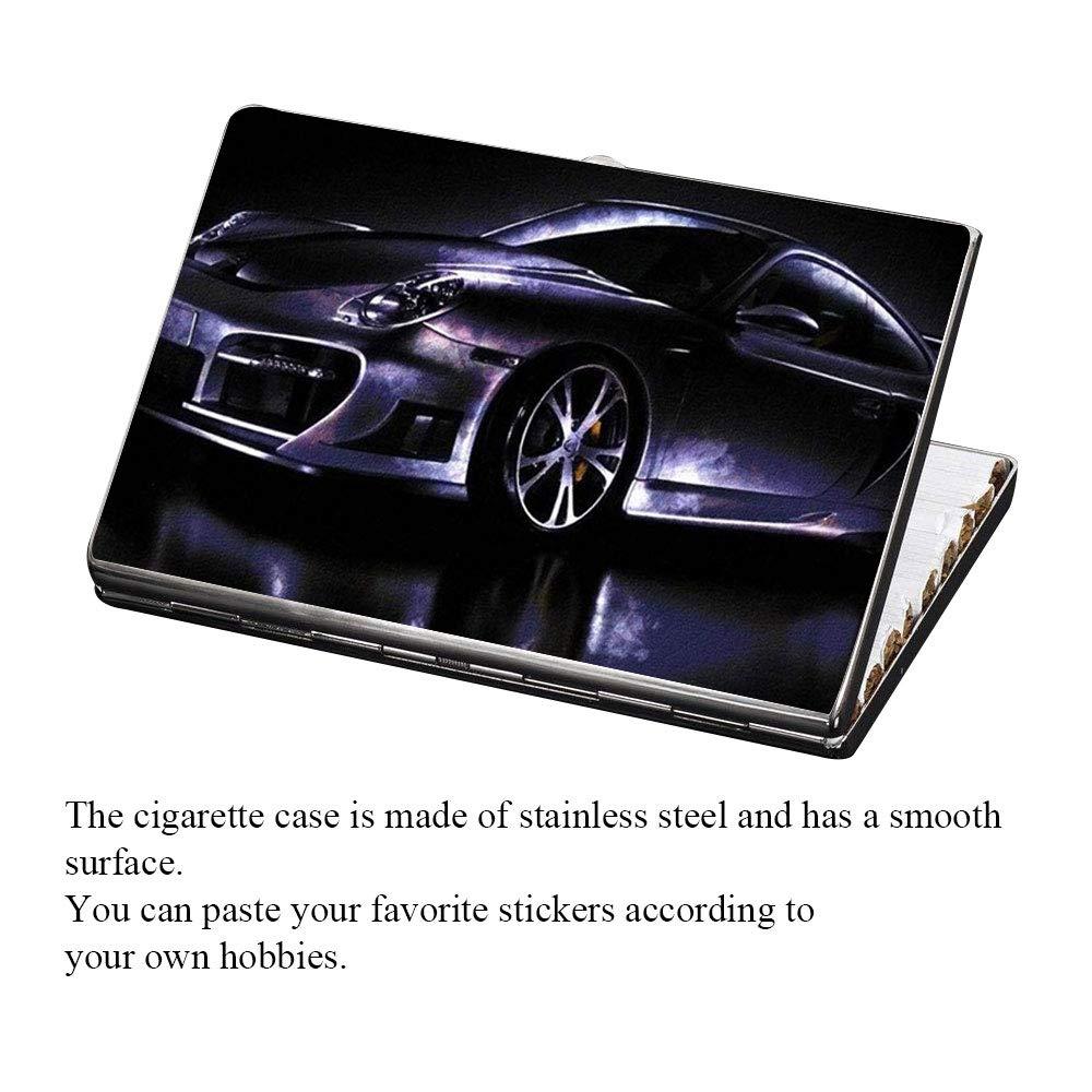 Amazoncom Slim Cigarette Case Kindpma Stainless Steel Metal