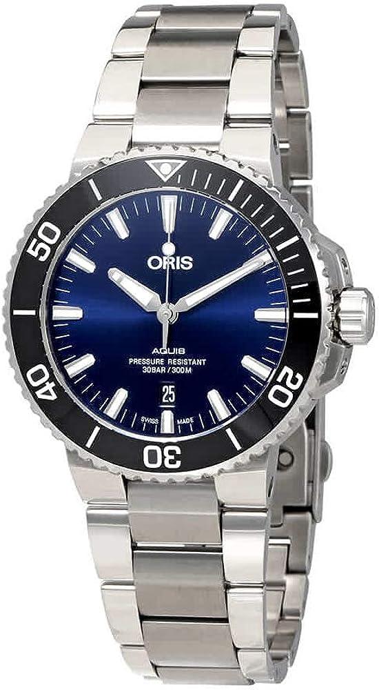 Oris Aquis 01 733 7730 4135-07 8 24 05PEB - Reloj automático para hombre con esfera azul