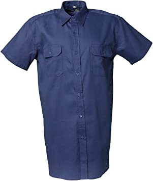 Planam 418047 - Camisa sarga 1/4 tamaño del brazo 47/48, 3xl, de color azul oscuro: Amazon.es: Bricolaje y herramientas