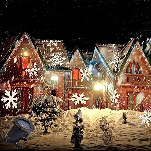 Eagwell christmas decoration rotating projection led lights snowflake spotlight christmas led for Projecteur led decoration noel exterieur