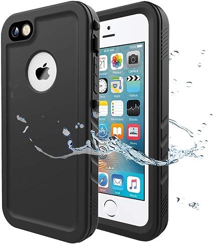 Cozycase Funda Impermeable para iPhone 5/ iPhone 5S/ iPhone SE, Waterproof Case a Prueba de choques a Prueba de Polvo Anti-rasguños Full Body ...