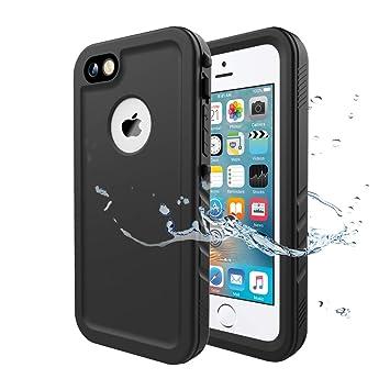 Wigoo Funda Impermeable para iPhone 5/ iPhone 5S/ iPhone SE, Waterproof Case a Prueba de choques a Prueba de Polvo Anti-rasguños Full Body Protector ...