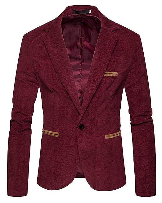 Slim Fit Blazer para Hombre Casual Blazer Elegante Chaqueta Traje De Boda Chaquetas Vintage Party Tuxedos Enfermera Prom: Amazon.es: Ropa y accesorios