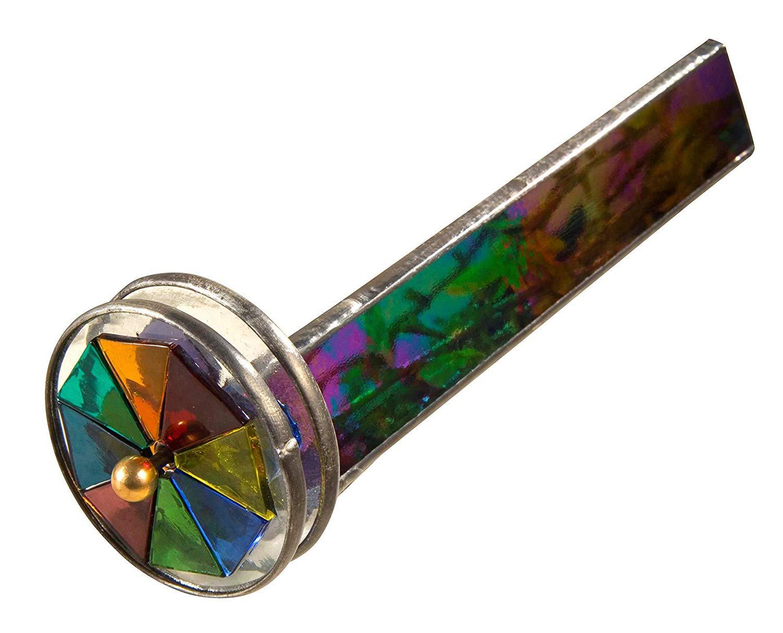 J Devlin Kal 110 Double Wheel Kaleidoscope Black Iridescent Stained Glass Gift for Dad by J Devlin Glass Art (Image #4)