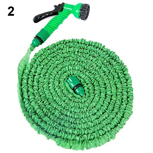 GohEunGyung shop [150ft Green] Flexible Garden Water Hose Spray Nozzle Retractable Snake Pipe
