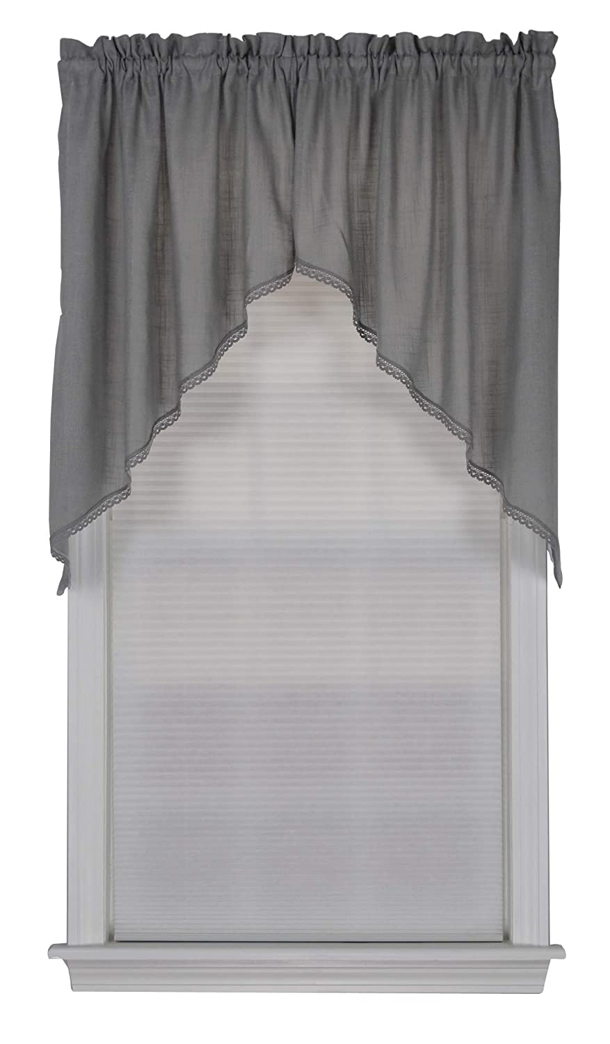 "Connemara Swag Curtain 72"" W x 38"" L (Gray)"