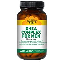 Country Life DHEA Complex Supplement, 60 Vegetarian Capsules (Supports Prostate...