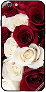 Case For iPhone 6 Plus - White & Red Small Roses